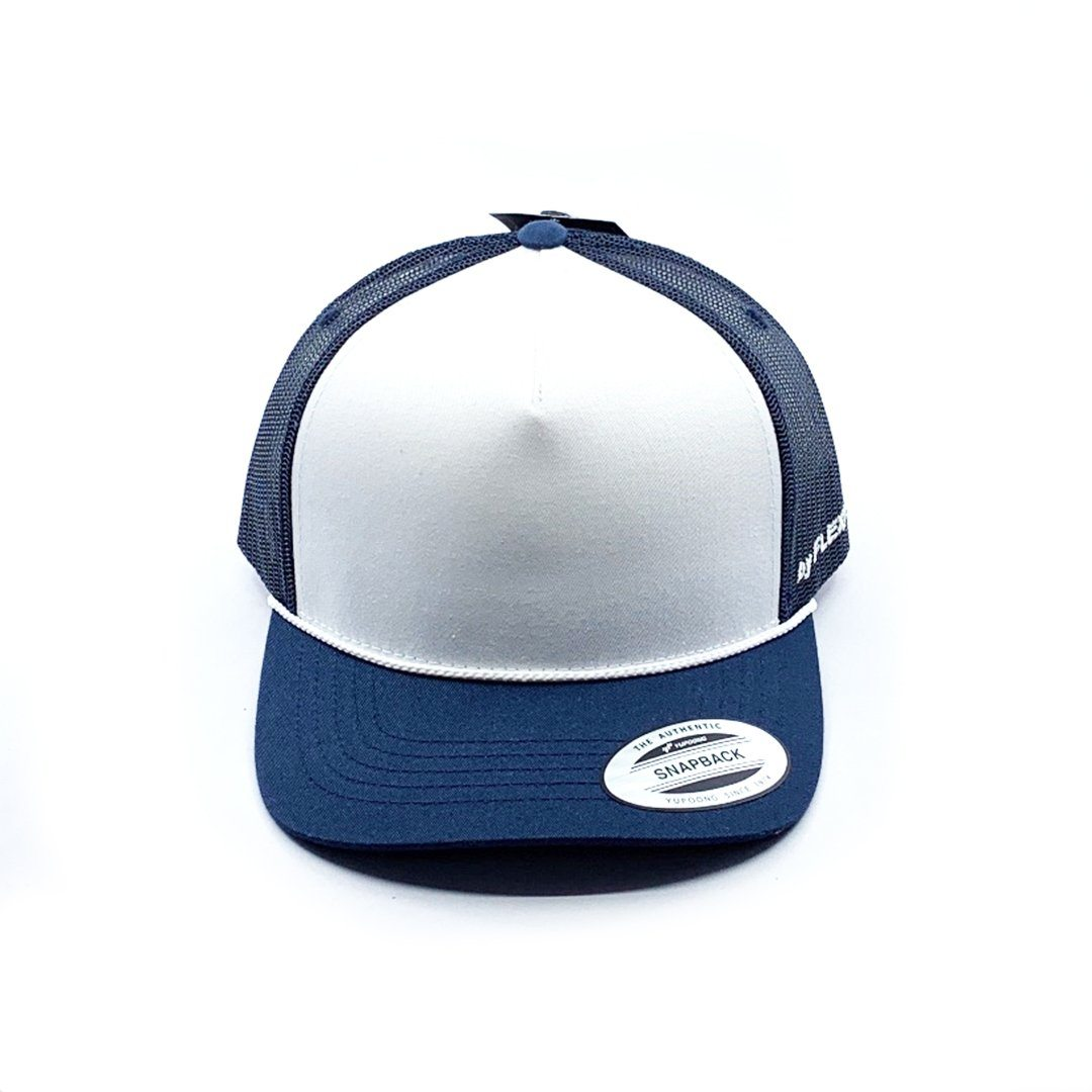 Flexfit Middy Trucker - Navy SP-Headwear-Caps Flexfit