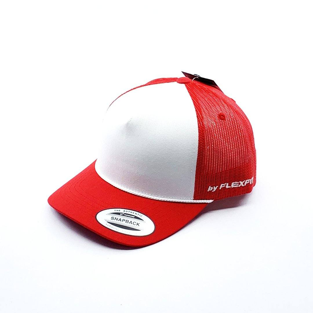 Flexfit Middy Trucker - Red SP-Headwear-Caps Flexfit