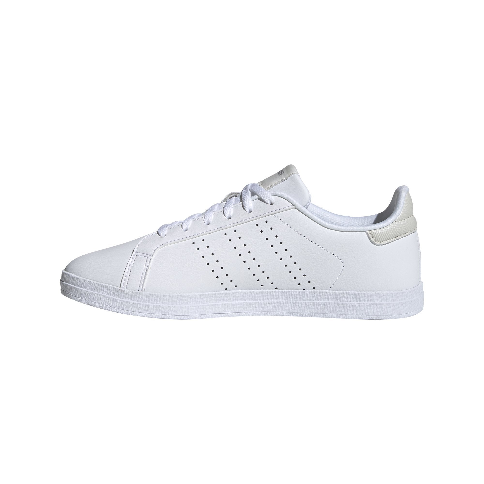 Adidas Womens Courtpoint CL X Shoes - Ftwr White/Ftwr White/Orbit Grey SP-Footwear-Womens Adidas