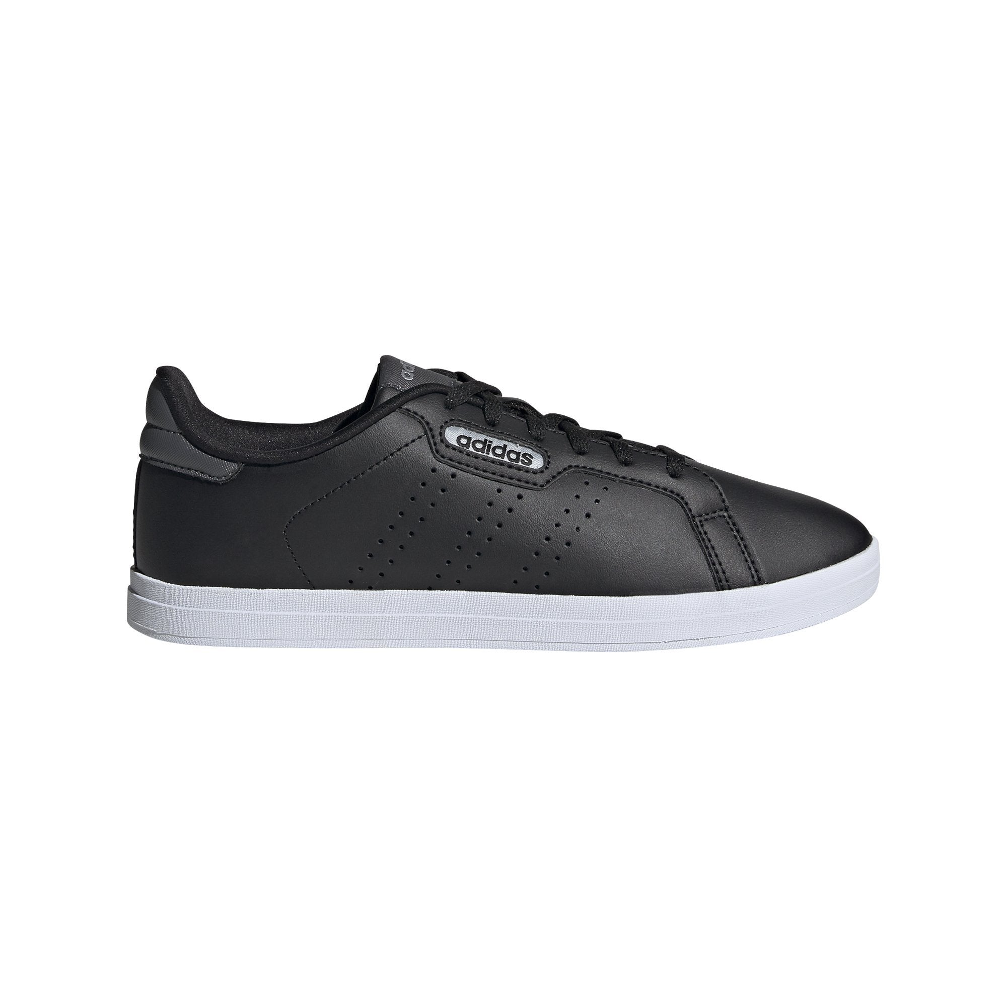Adidas Womens Courtpoint CL X Shoes - Core Black/Core Black/Grey Six