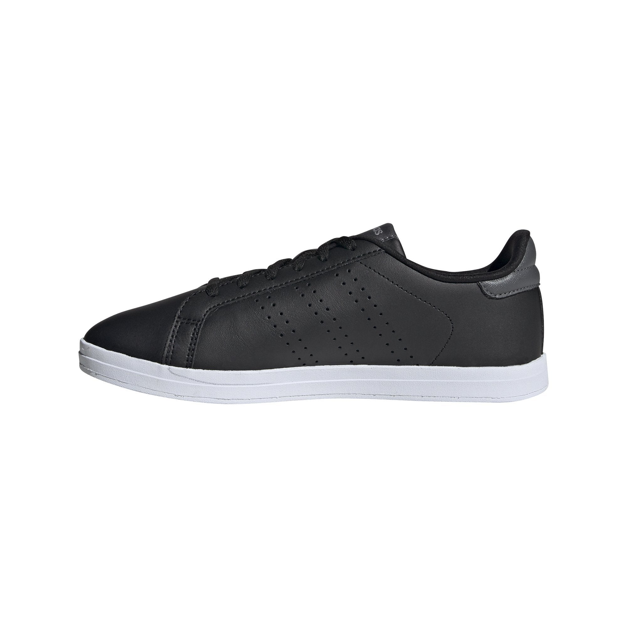 Adidas Womens Courtpoint CL X Shoes - Core Black/Core Black/Grey Six SP-Footwear-Womens Adidas
