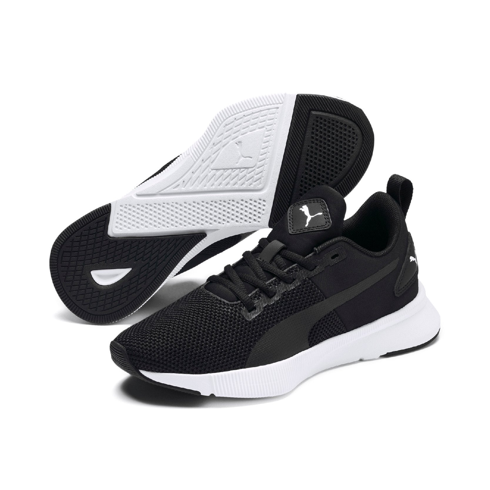 Puma Flyer Runner Junior - Puma Black-Puma White SP-Footwear-Kids Puma