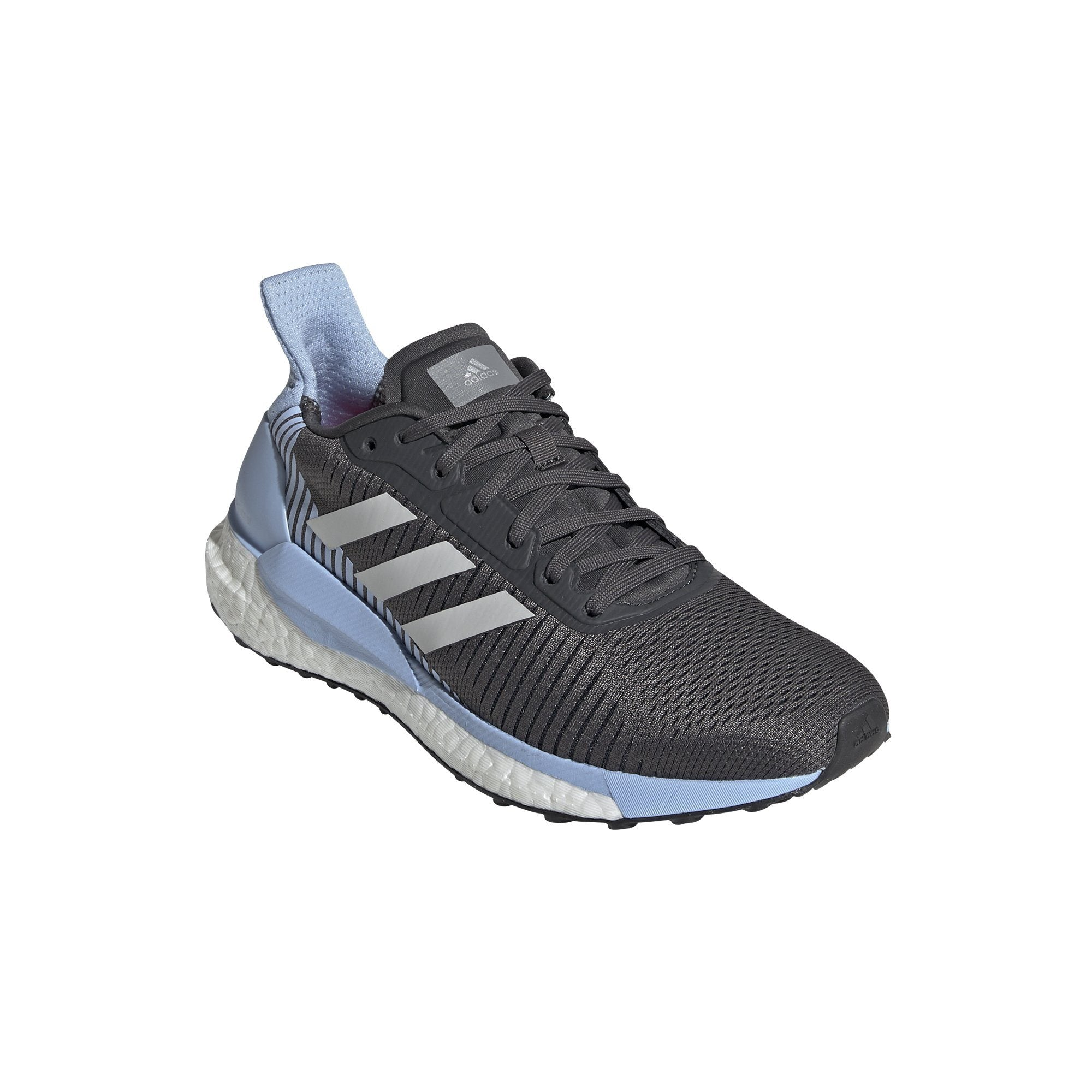 Adidas Womens SolarGlide ST 19 Shoes - grey six/GREY ONE F17/glow blue SP-FOOTWEAR-WOMENS Adidas
