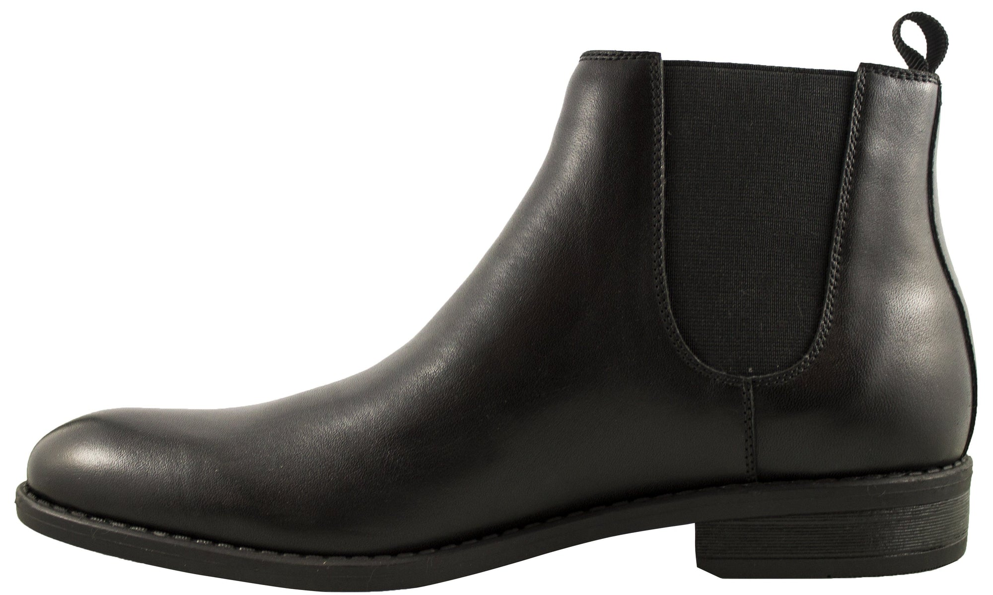 Geoffrey Beene-Harlem-Leather Chelsea Boot-Black Footwear Geoffrey Beene