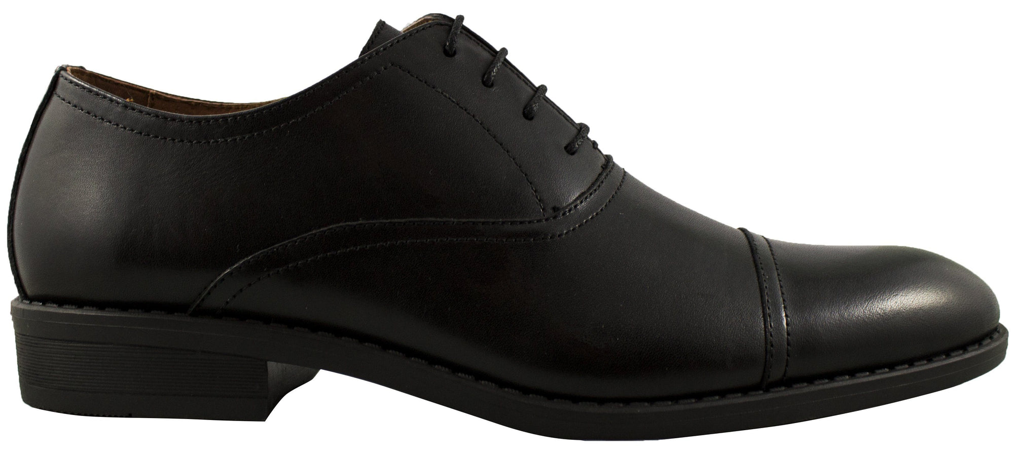 Geoffrey Beene - Hudson Leather Toe Cap Dress Shoe - Black Footwear Geoffrey Beene