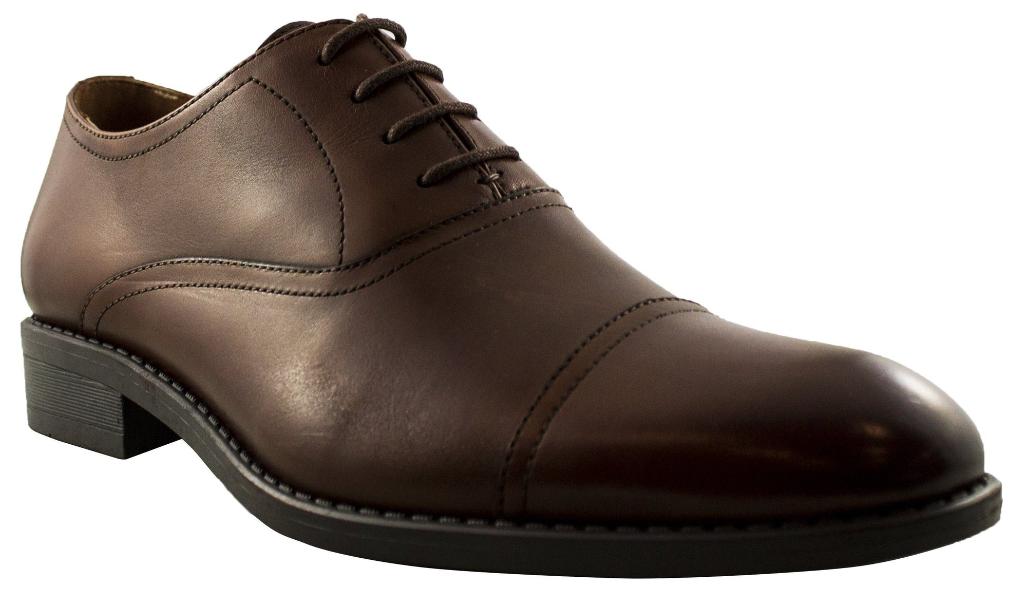 Geoffrey Beene - Hudson Leather Toe Cap Dress Shoe - Brown Footwear Geoffrey Beene