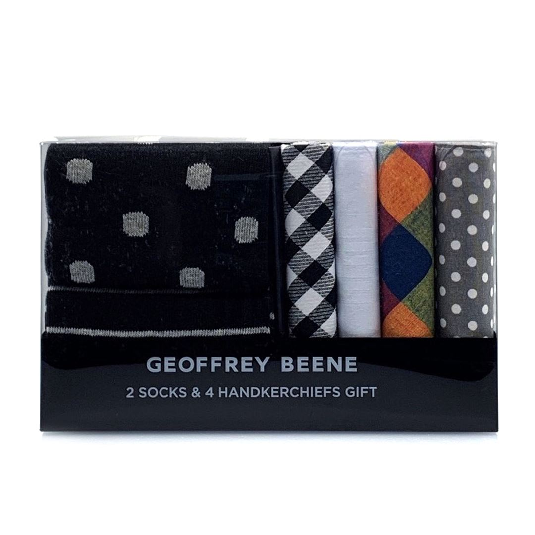 Geoffrey Beene Hanky and Sock Gift Pack - Black Gifting Geoffrey Beene