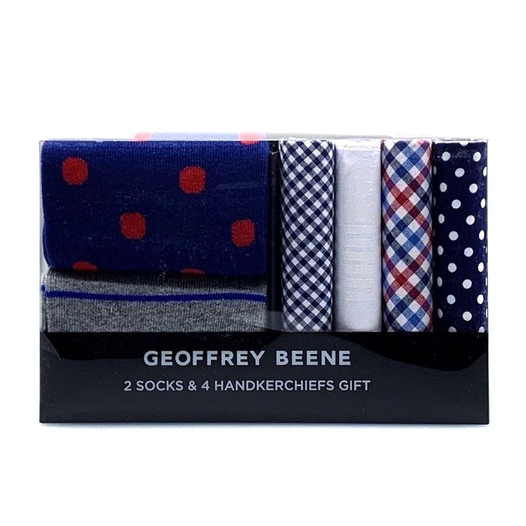 Geoffrey Beene Hanky and Sock Gift Pack - Navy Gifting Geoffrey Beene