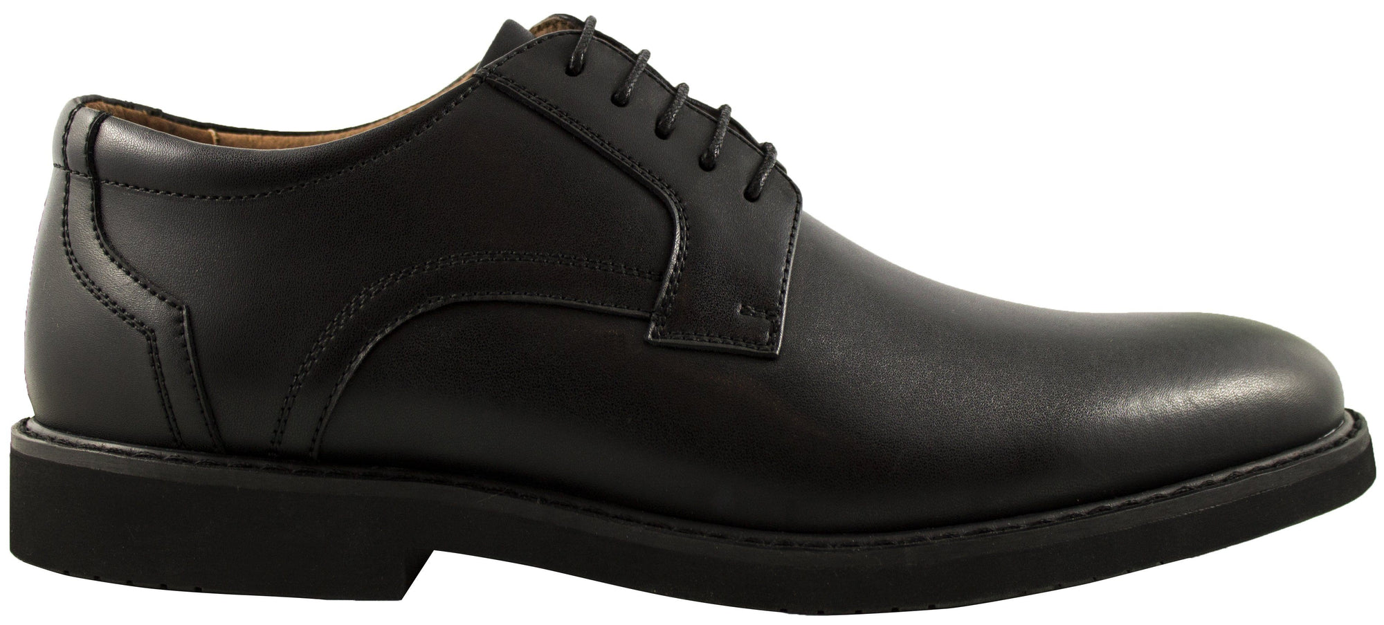 Geoffrey Beene-Wall St-Leather Toe Cap Dress Shoe-Black Footwear Geoffrey Beene