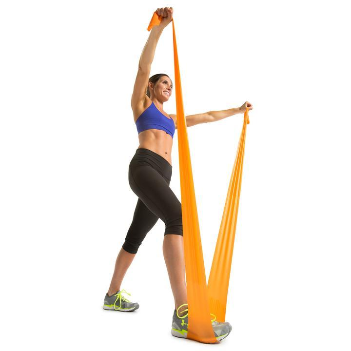 GoFit Power Latex Free Flat Band - Medium (Orange) SP-Equipment-Exercise GoFit