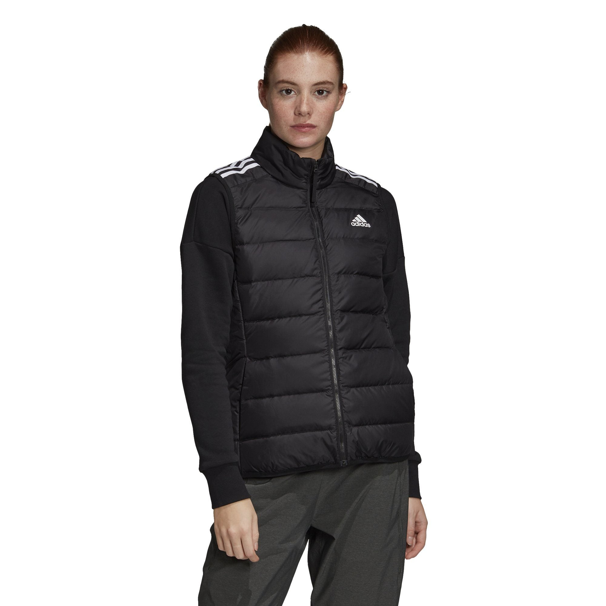 Adidas Womens Essentials Down Vest - black SP-ApparelJacket-Womens Adidas