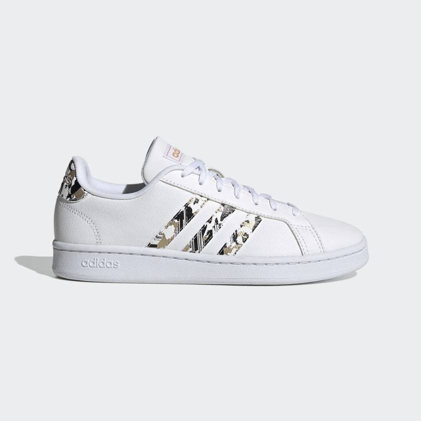 Adidas Women's Grand Court - Ftwr White/Ftwr White/Copper Metallic