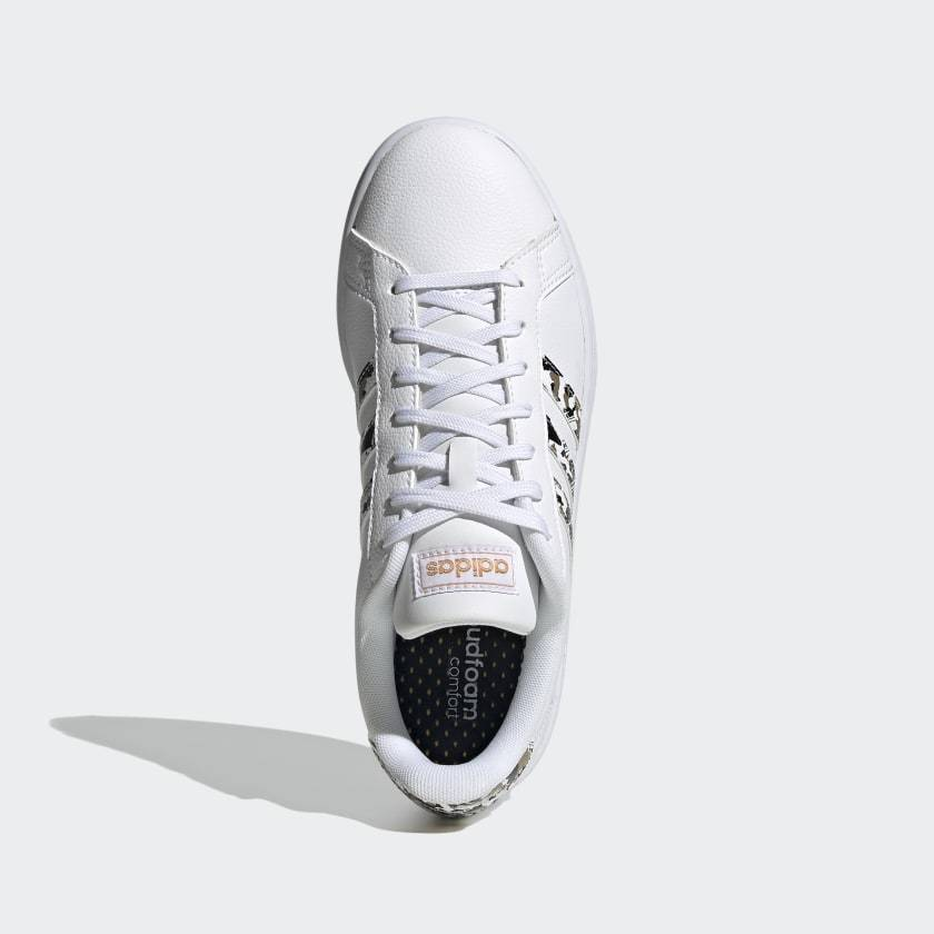 Adidas Women's Grand Court - Ftwr White/Ftwr White/Copper Metallic SP-Footwear-Womens Adidas