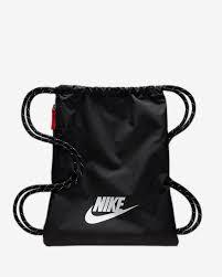 Nike Heritage 2.0 Gym Sack - Black/Black/White SP-Accessories-Bags Nike