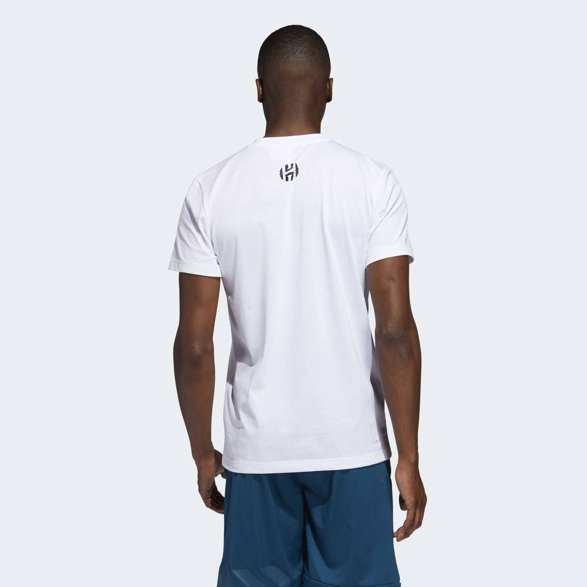 Adidas Harden V4 Art Tee - White SP-ApparelTees-Mens Adidas