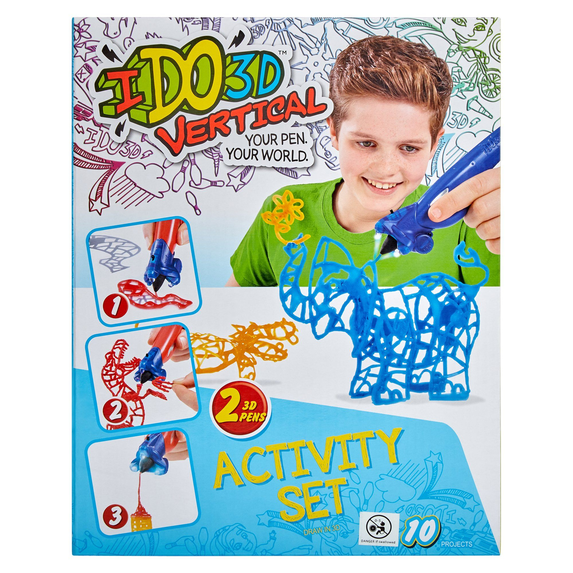 Ido3d Vertical 2 Pen Set - Blue Elephant Toys Ido3d