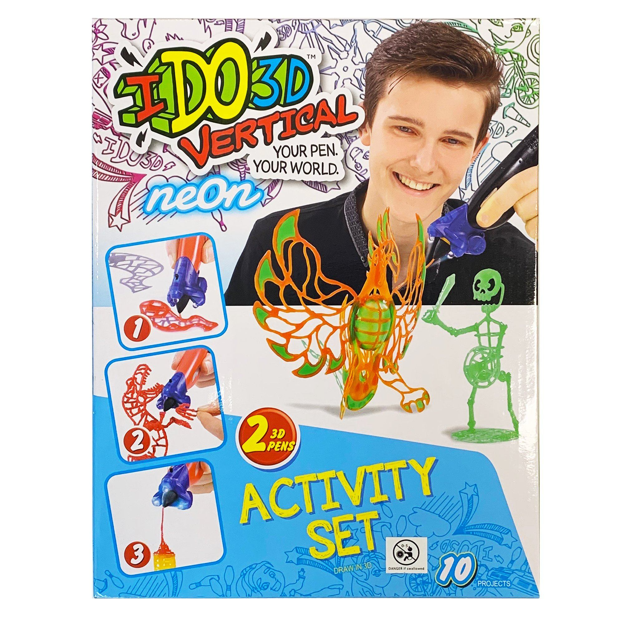 Ido3d Vertical Pen Set - Neon Orange Toys Ido3d