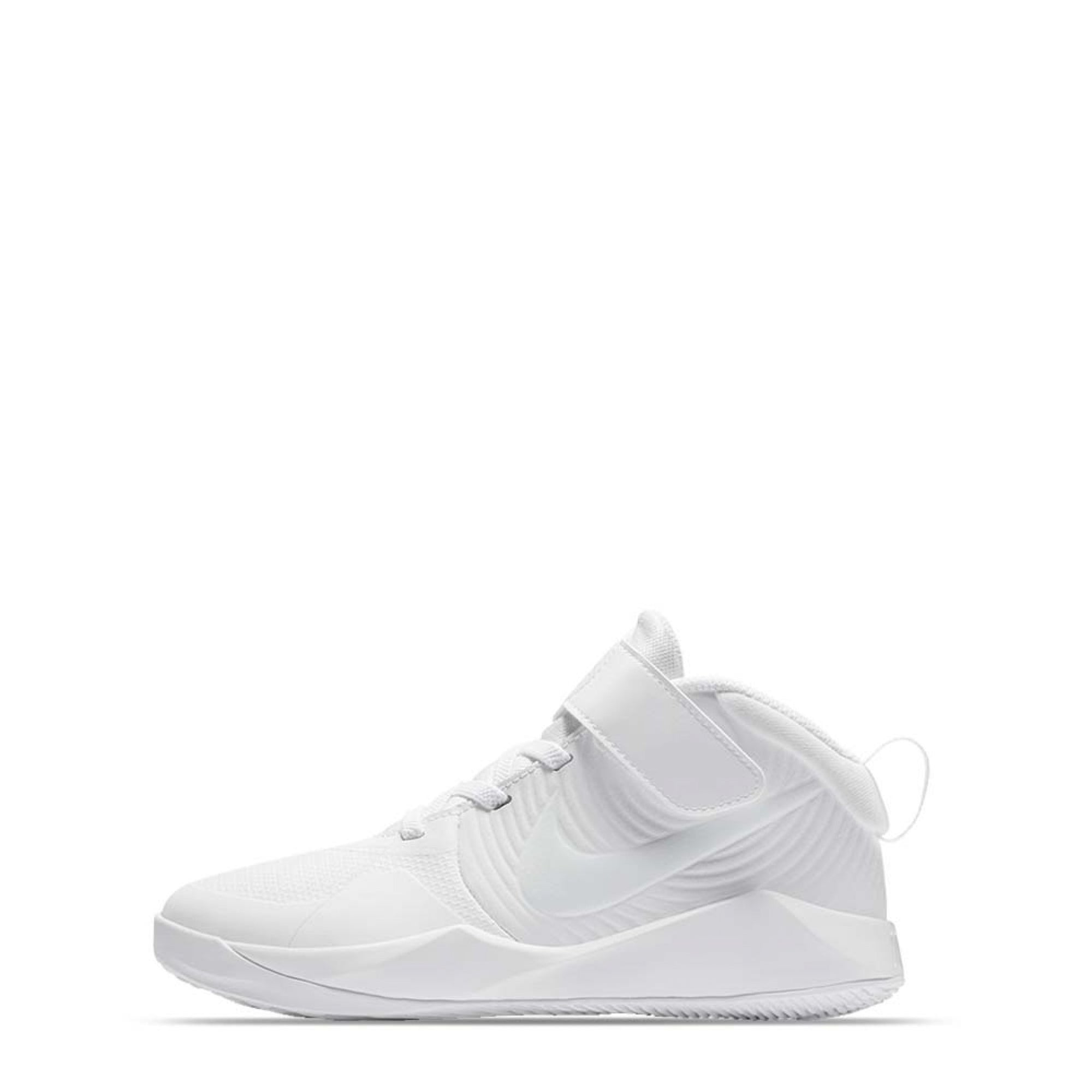 Nike Kids Team Hustle D 9 (Little Kids) - White/White-Platinum Tint-Volt SP-Footwear-Kids Nike