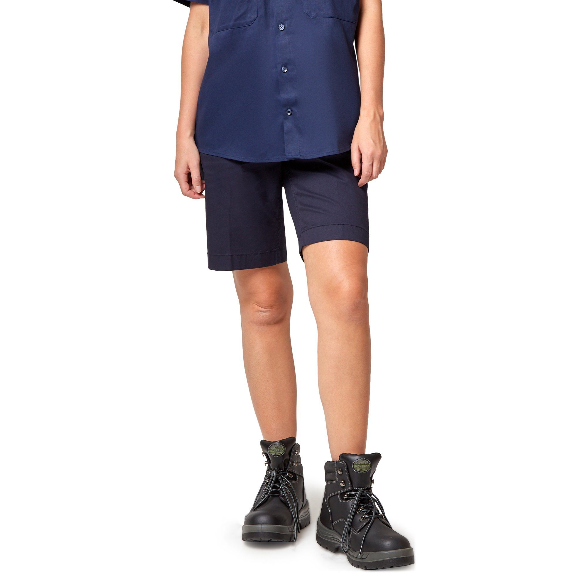 King Gee Women's Casual Chino Short - Navy Workwear King Gee