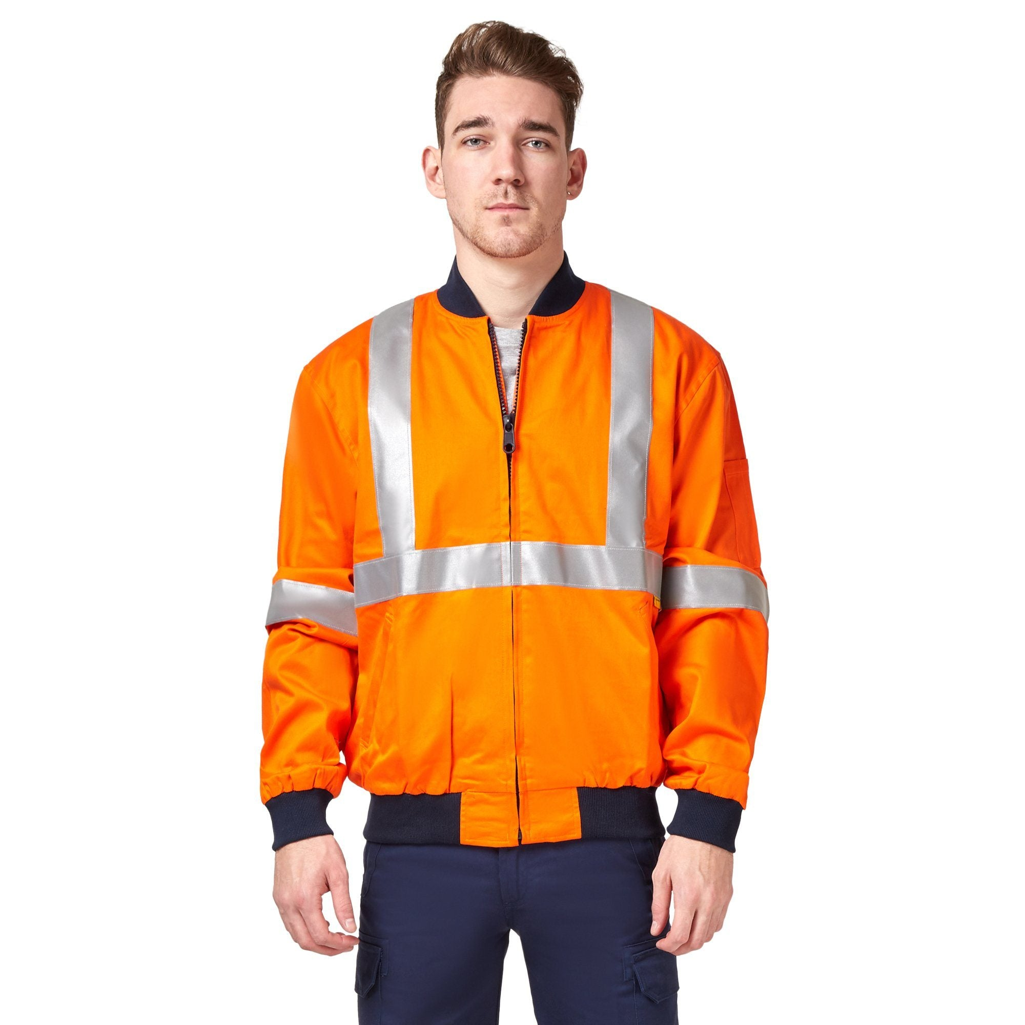 King Gee Jacket - Orange/Navy Workwear Isbister & Co Wholesale