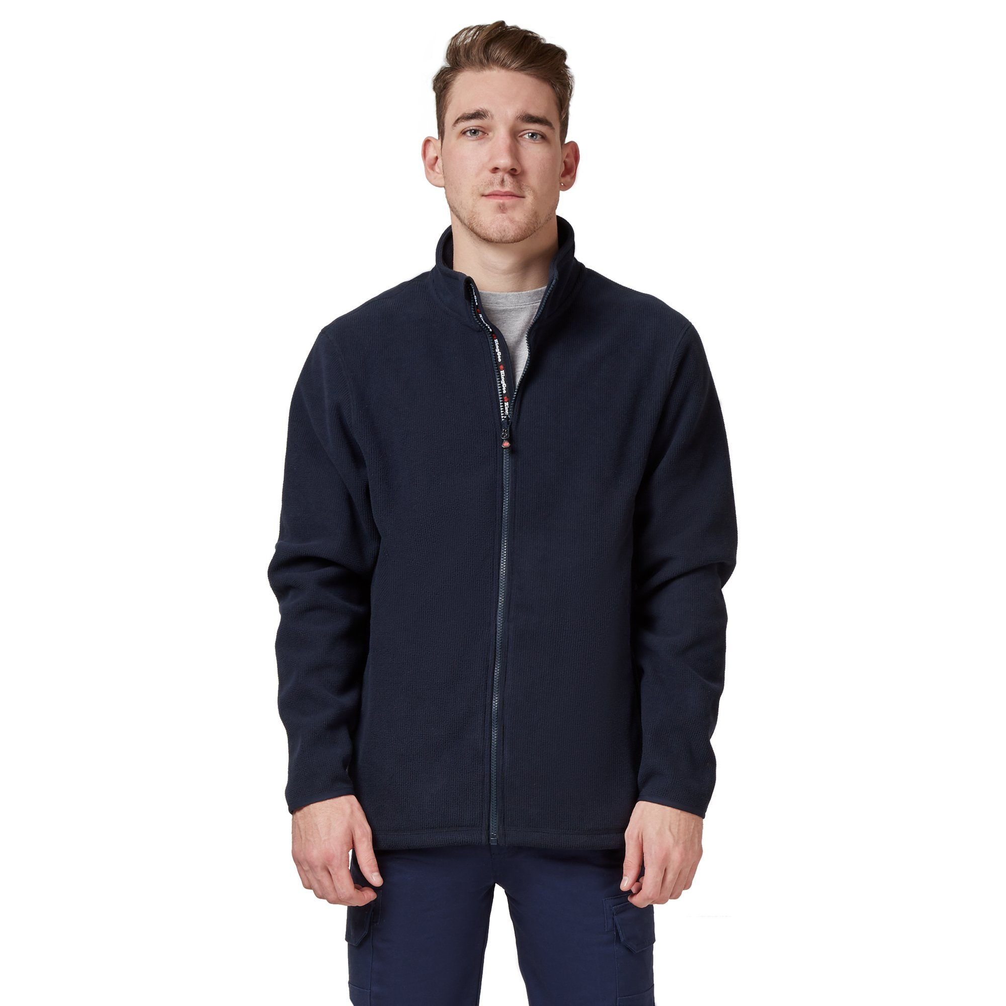King Gee Full Zip Fleece - Navy Workwear Isbister & Co Wholesale