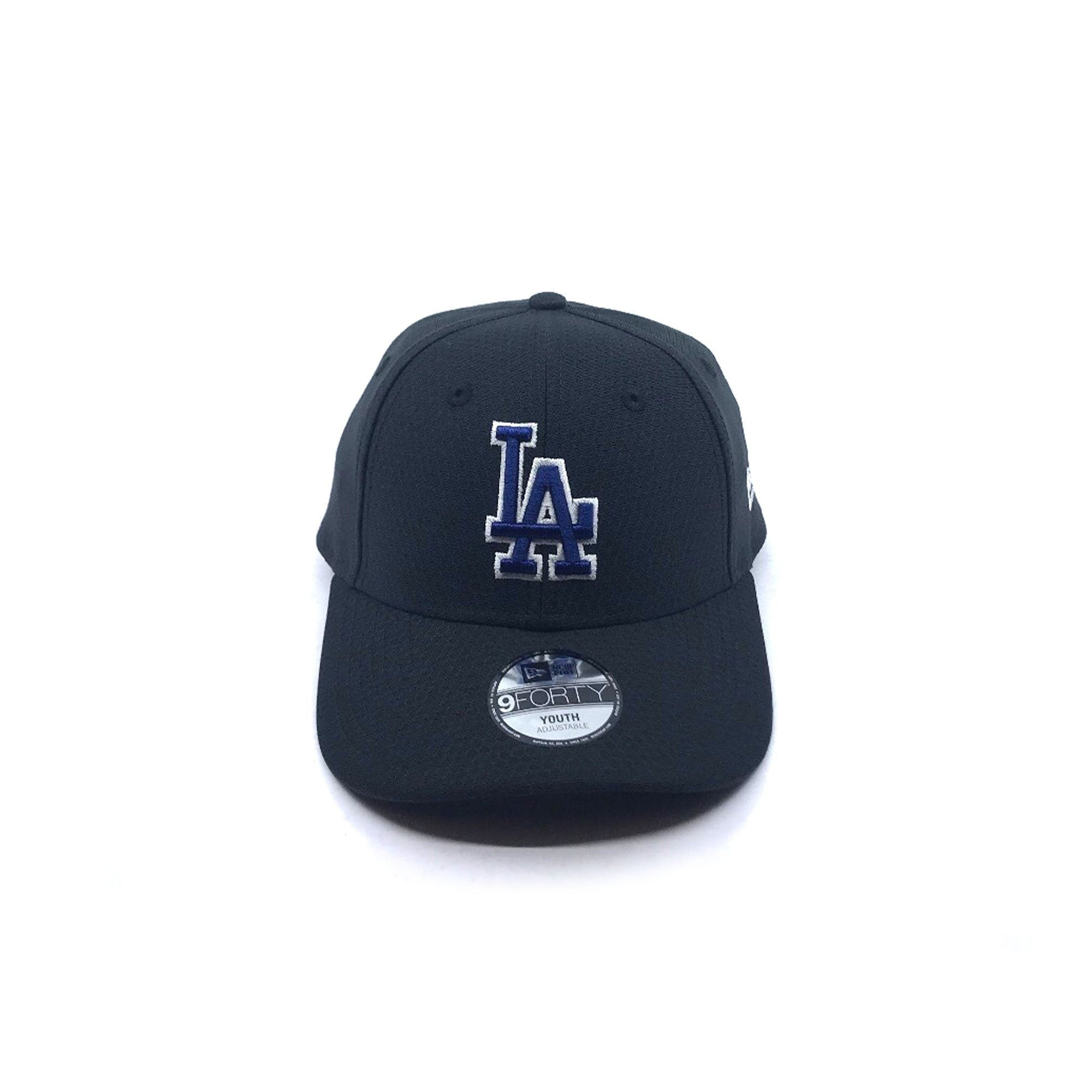 New Era Youth 9FORTY Snapback - Los Angeles Dodgers - Black Hex SP-Headwear-Caps New Era