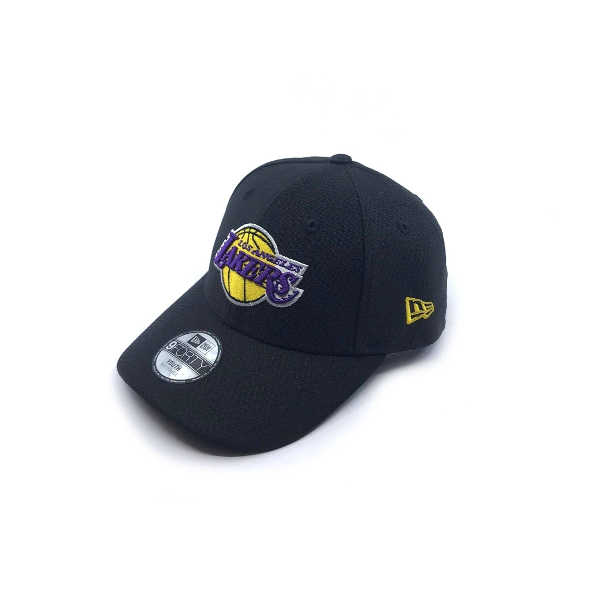 New Era Youth 9FORTY Snapback - Los Angeles Lakers - Black Hex SP-Headwear-Caps New Era