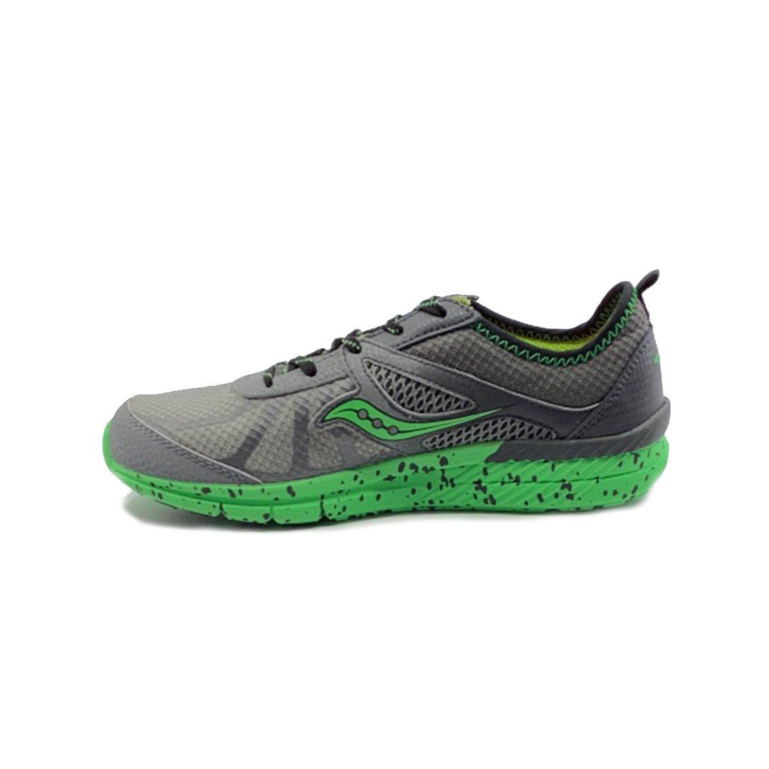 Saucony Boys Running Shoes - Volt Grey/Green SP-Footwear-KidsBoys Saucony
