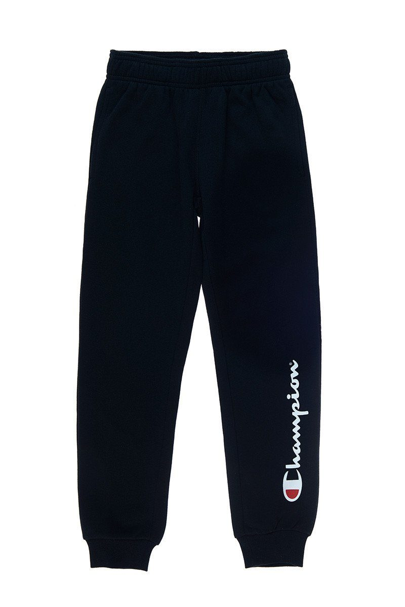 Champion Kid's Script Cuff Pant - Black SP-ApparelPants-Kids Champion
