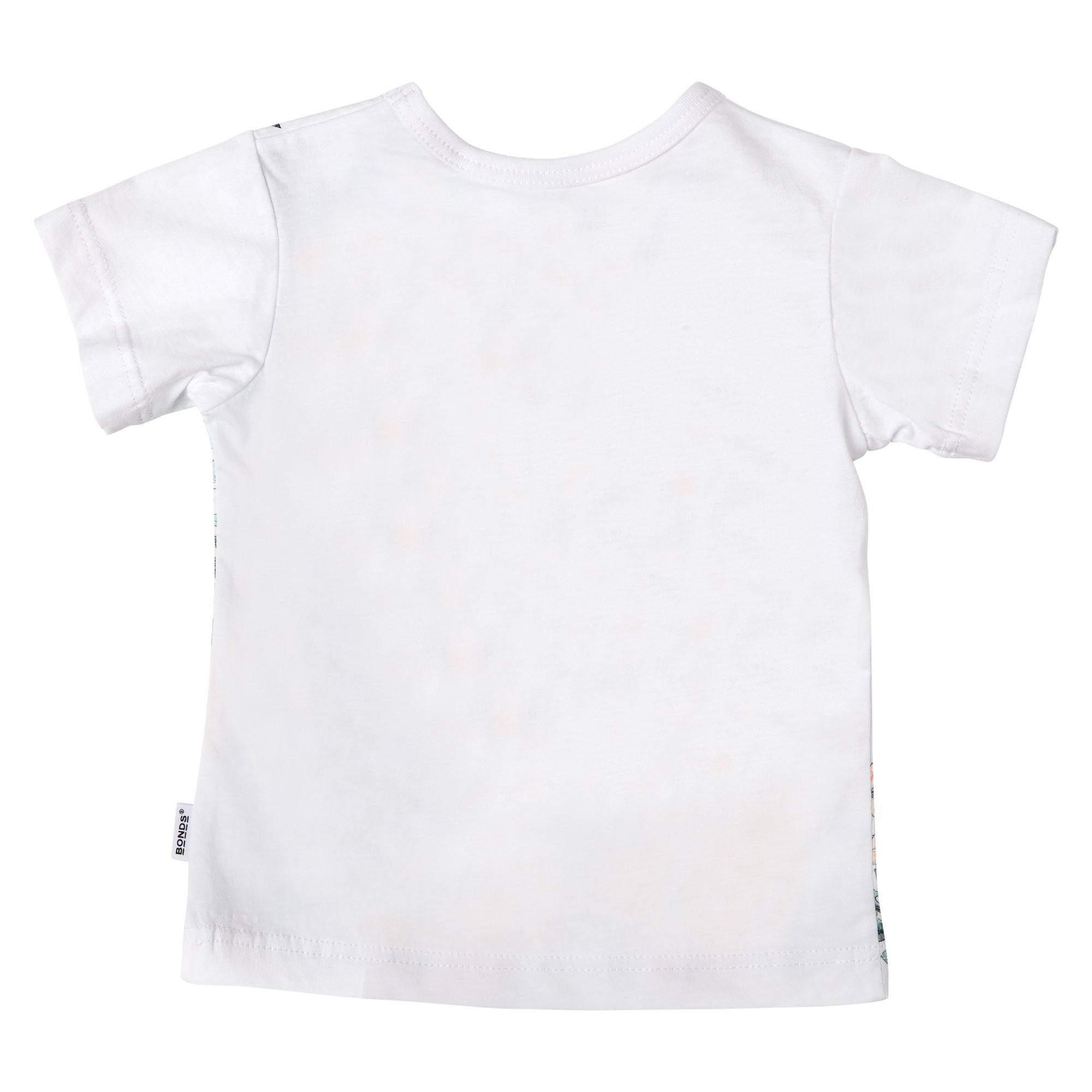 Bonds Baby The Crew Tee Floral Print White Baby Isbister & Co Wholesale
