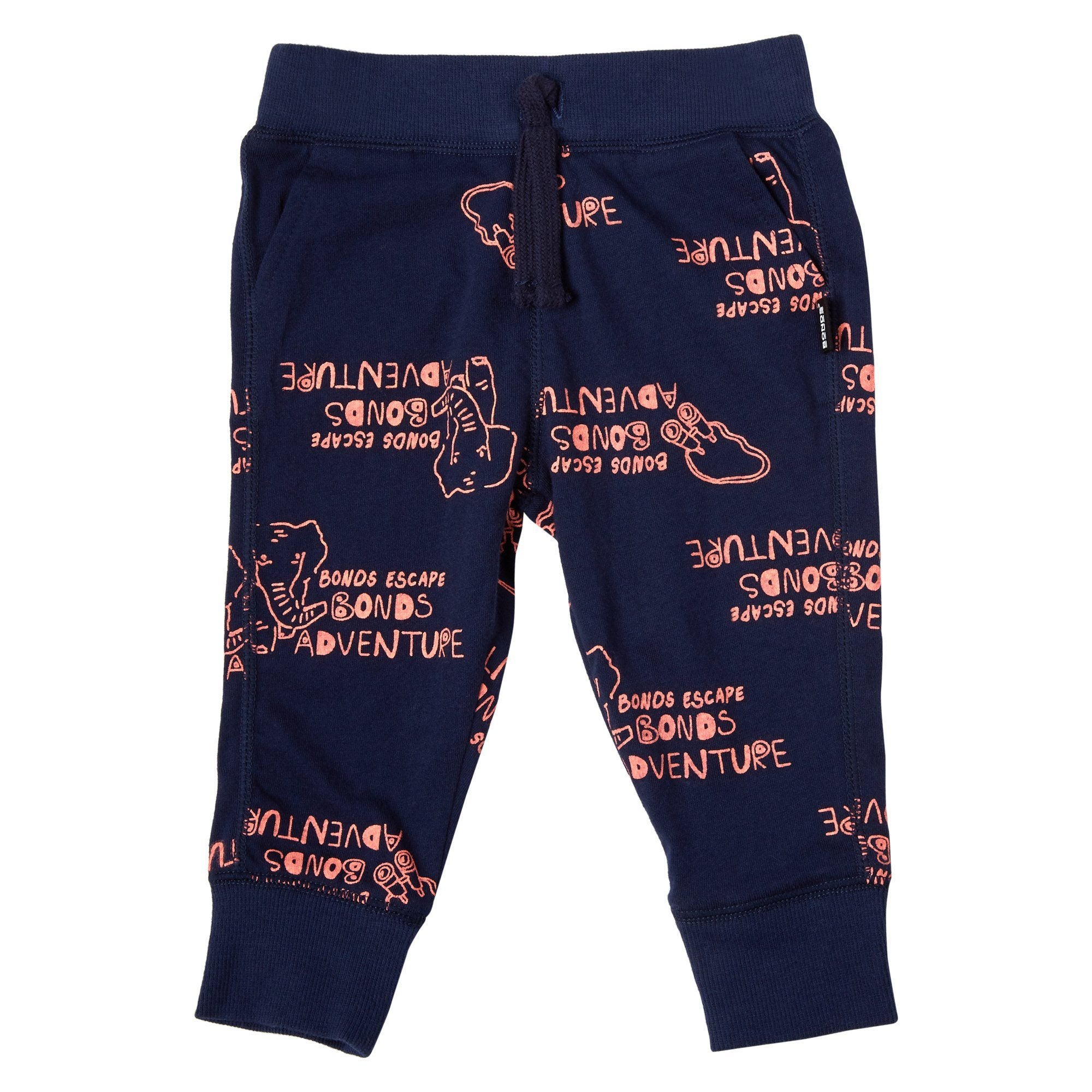 Bonds Baby Hipster Trackie Adventure Print Navy Baby Isbister & Co Wholesale