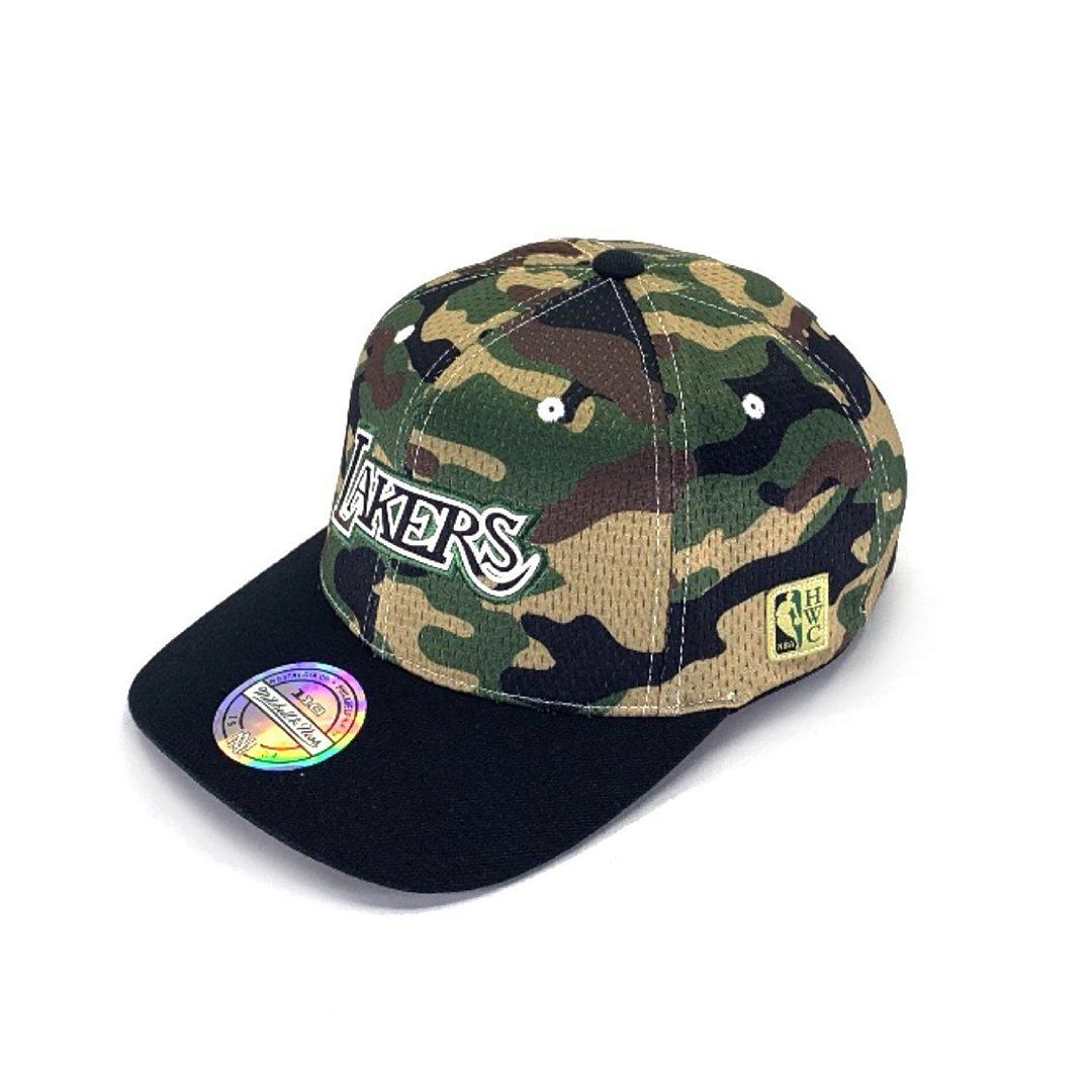 Mitchell & Ness Mesh Camo Snapback - Los Angeles Lakers Hats Mitchell & Ness
