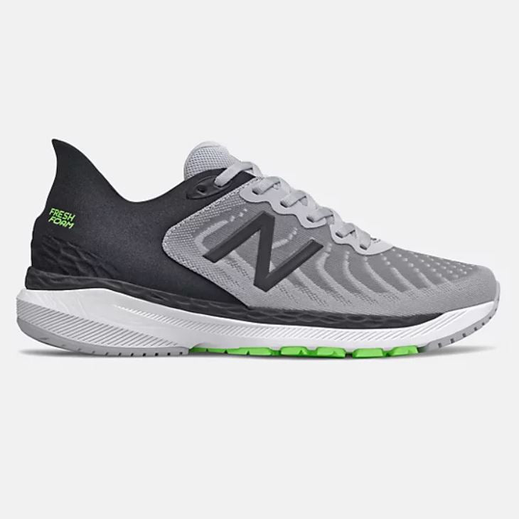 New Balance Mens Fresh Foam 860v11 - Light Aluminum with Black SP-Footwear-Mens New Balance