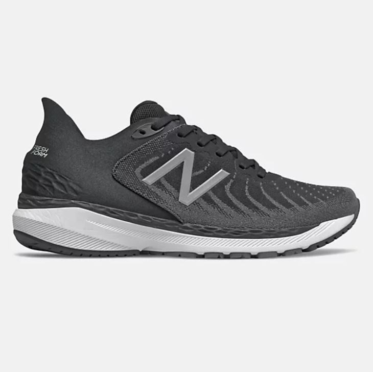 New Balance Mens Fresh Foam 860v11 - White with Black & Phantom SP-Footwear-Mens New Balance
