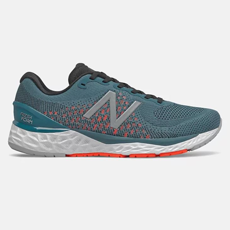 New Balance Mens Fresh Foam 880v10 - Jet Stream with Energy Red SP-Footwear-Mens New Balance