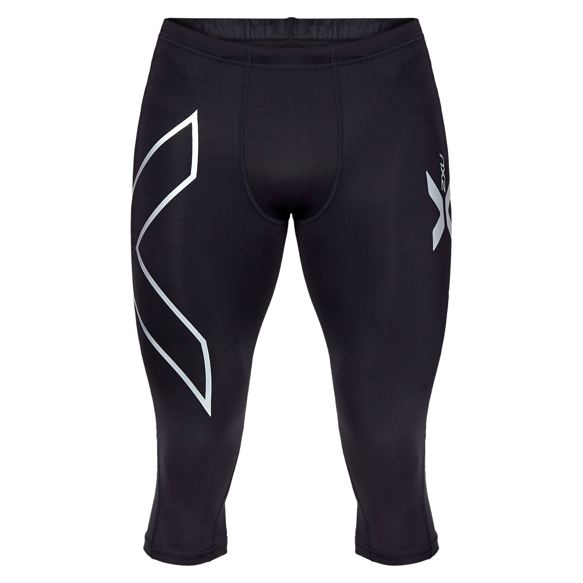 2XU Men's Compression 3/4 Tights - Black/Black Apparel 2XU  (2019203153979)