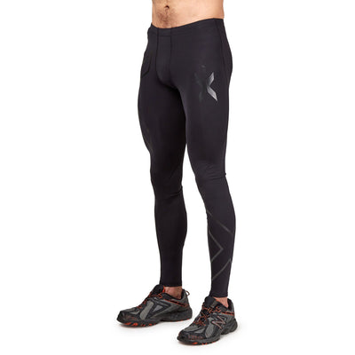 2XU Men's Recovery Compression Tights - Black/Black Apparel 2XU