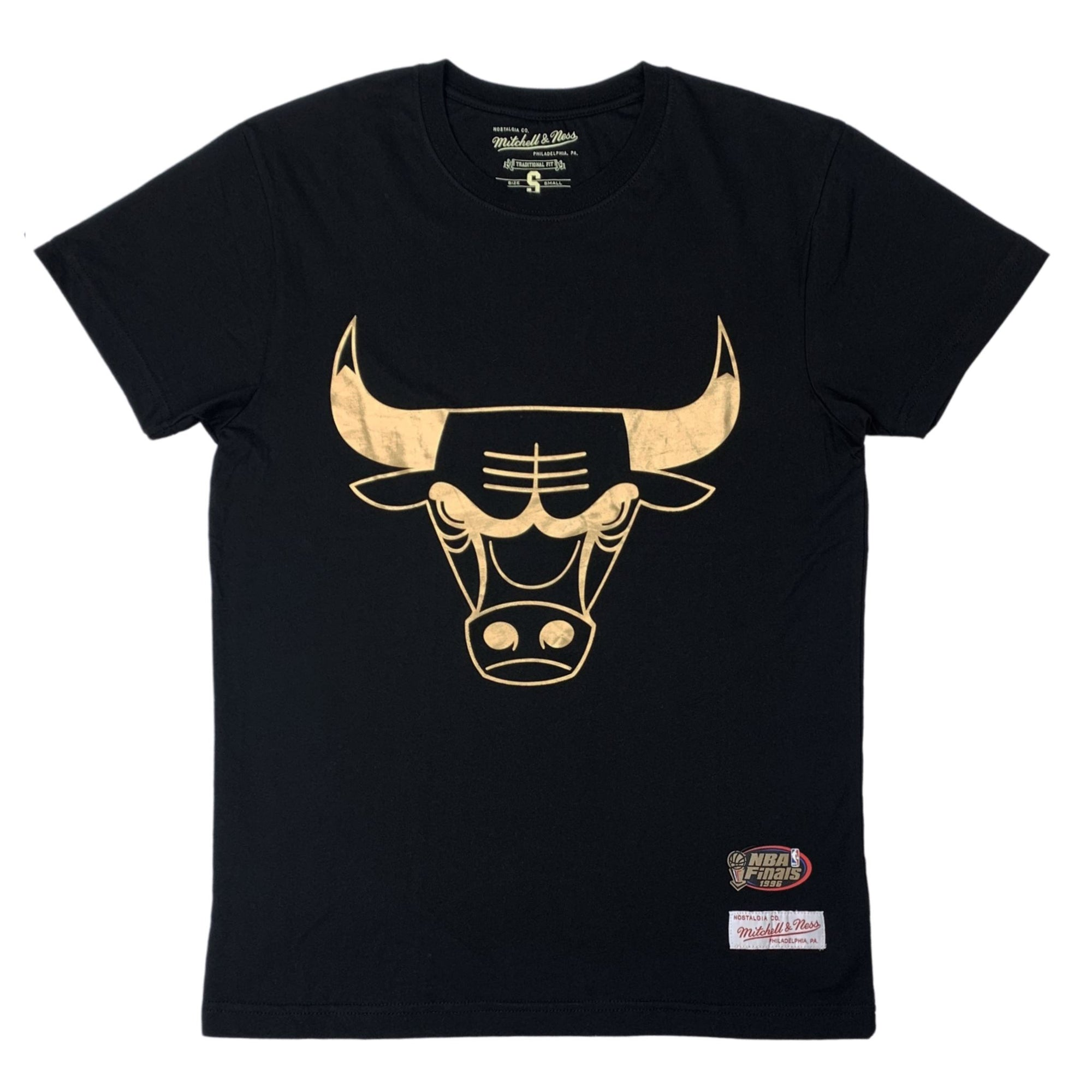 Mitchell & Ness Gold Team Tee - Chicago Bulls (Black) SP-ApparelTees-Mens Mitchell & Ness