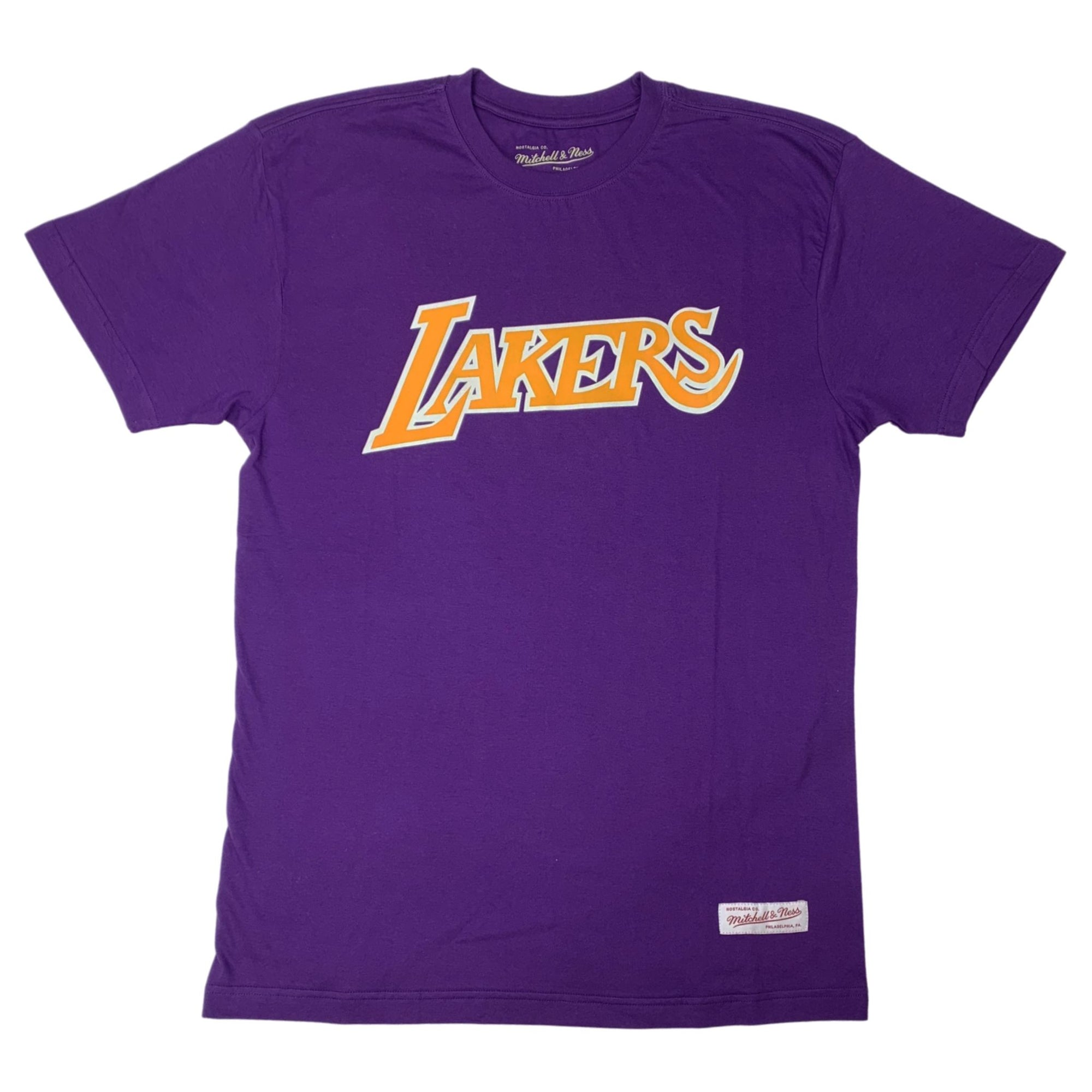 Mitchell & Ness LA LAKERS Team Logo Tee - Purple SP-ApparelTees-Mens Mitchell & Ness