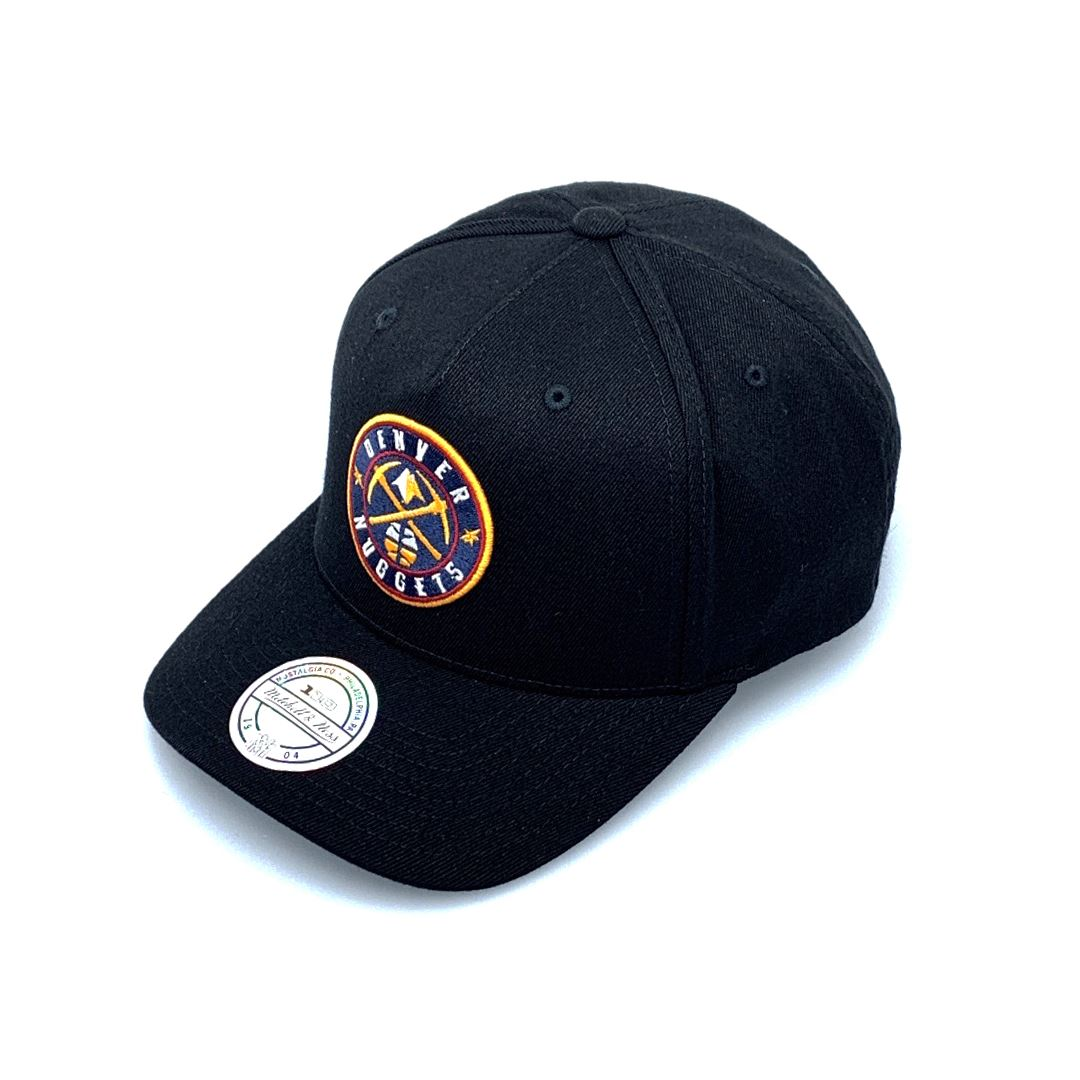 Mitchell & Ness Black/Colour Logo 110 Snapback - Denver Nuggets SP-Headwear-Caps Mitchell & Ness