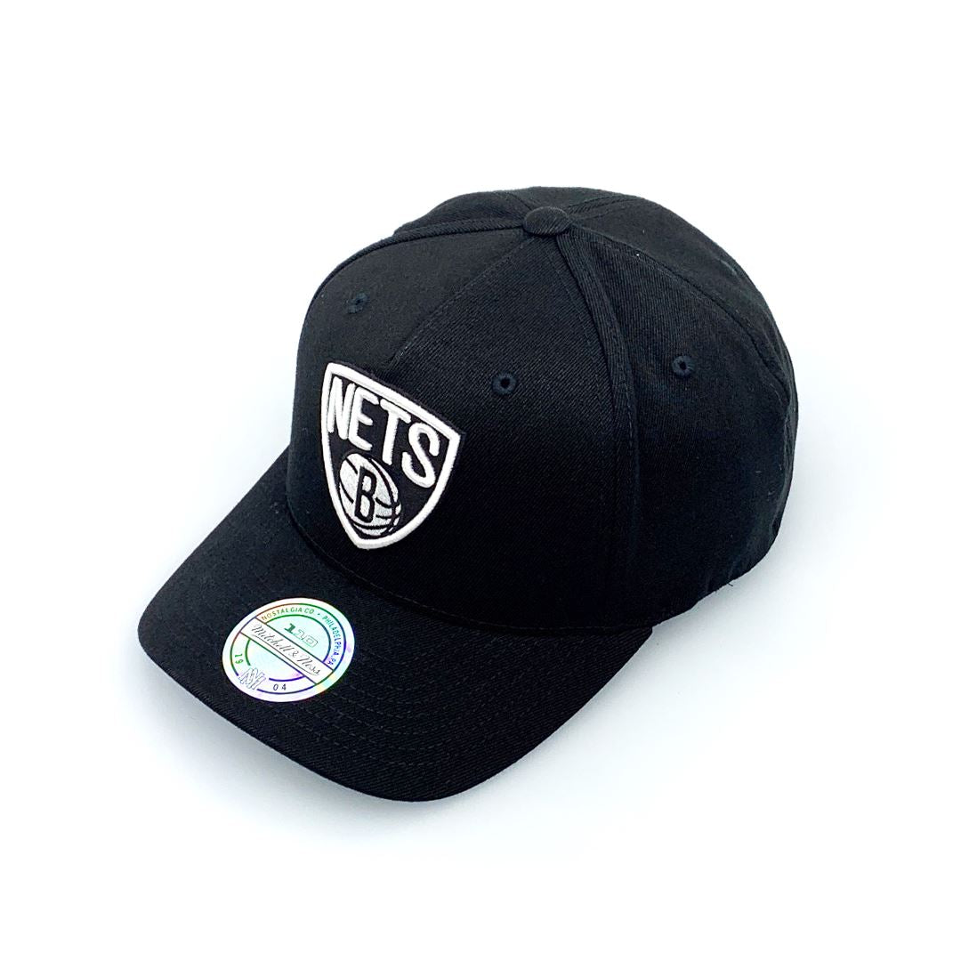 Mitchell & Ness Black And White Logo 110 Snapback - Brooklyn Nets SP-Headwear-Caps Mitchell & Ness