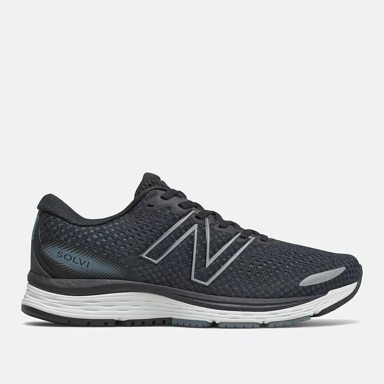 New Balance Men's Solvi v3 Running Shoe - Black SP-Footwear-Mens New Balance