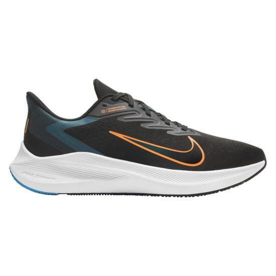 Nike Mens Air Zoom Winflo 7 - Black/Atomic Orange-Dark Teal Green SP-Footwear-Mens Nike
