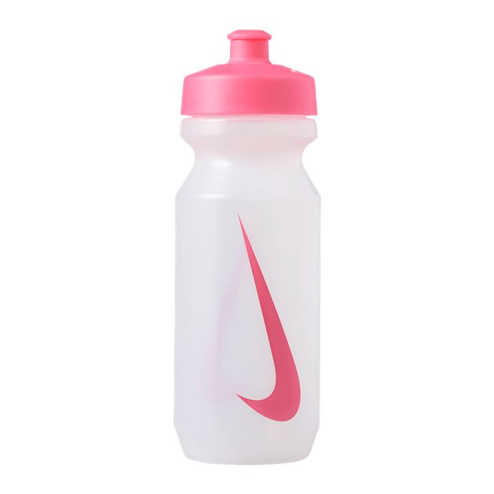 Nike Big Mouth Graphic Water Bottle 650ml - Clear/Pink Pow SP-Accessories-DrinkBottles Nike