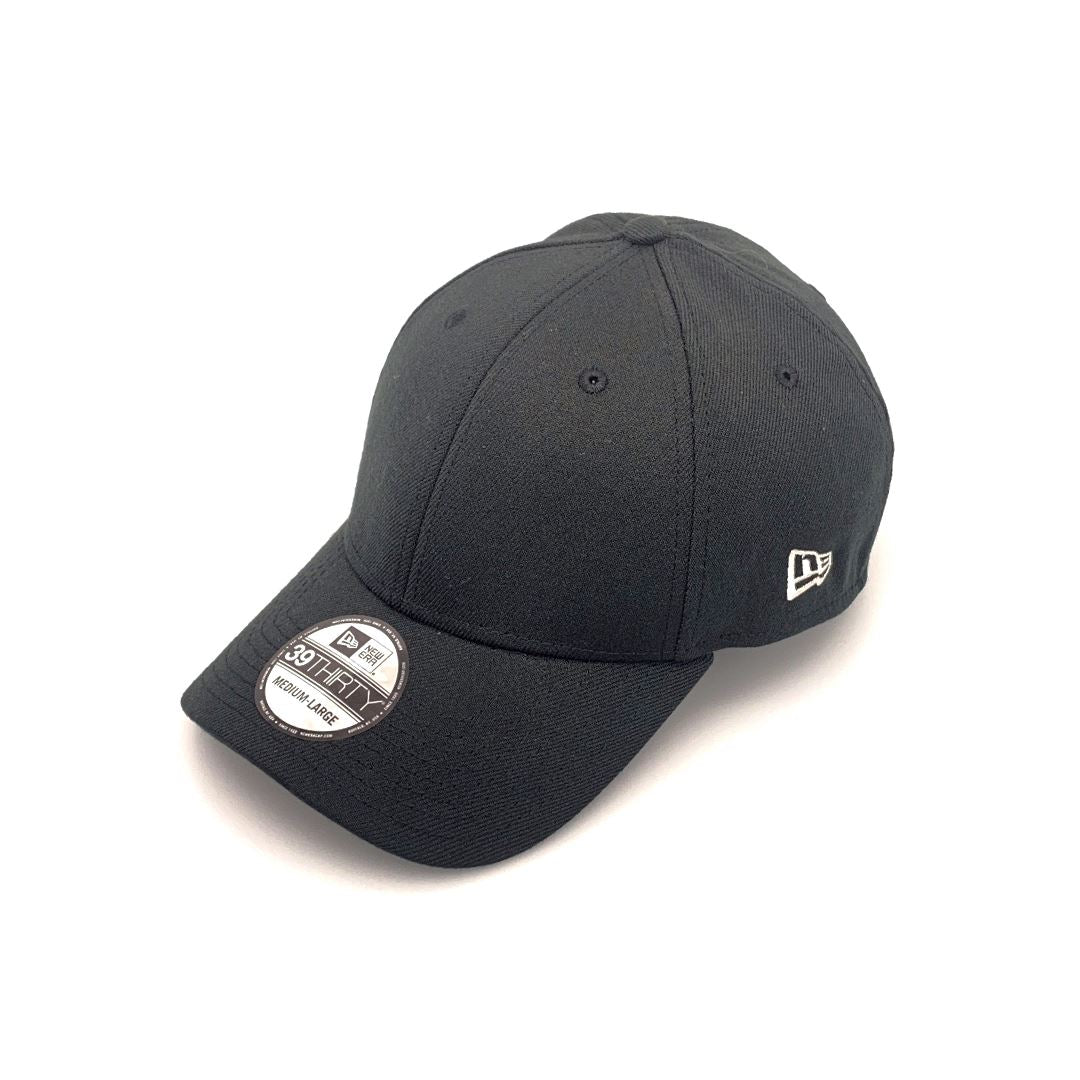 New Era 39THIRTY Blank Neo Black SP-Headwear-Caps New Era