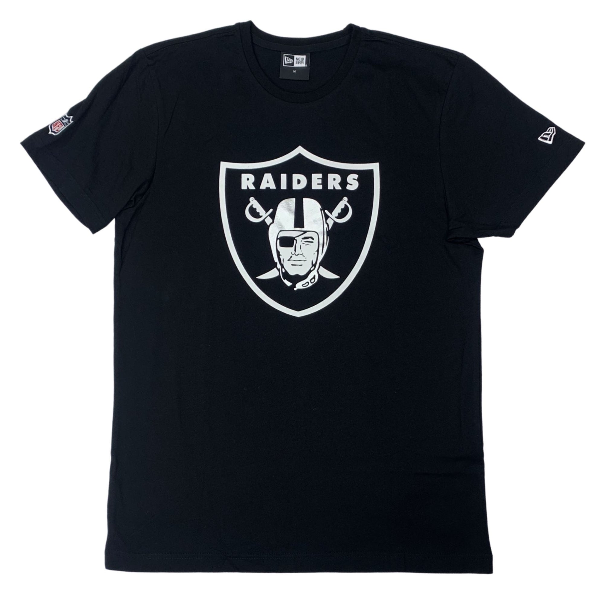 New Era Oakland Raiders Essential Tee - Black/Silver SP-ApparelTees-Mens New Era
