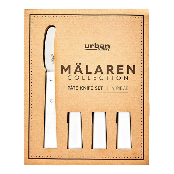 Malaren 4p Pate Knife Set - White Kitchenware Isbister & Co Wholesale