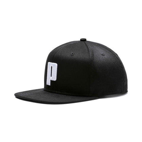 Puma Colour Block P Cap - Puma Black/Puma White SP-Headwear-Caps Puma