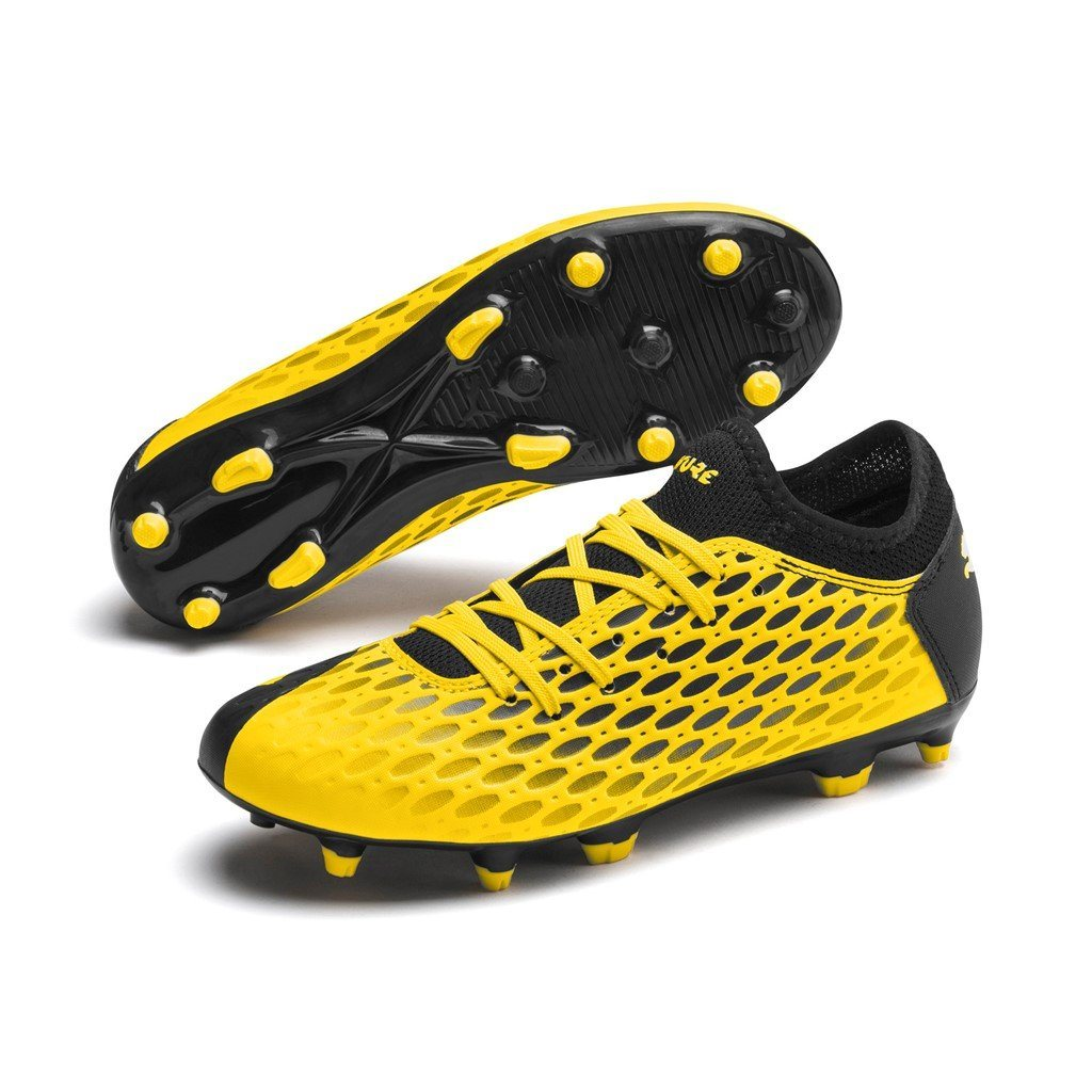 Puma Future 5.4 FG AG Jr - Ultra Yellow/Puma Black SP-Footwear-Football Puma
