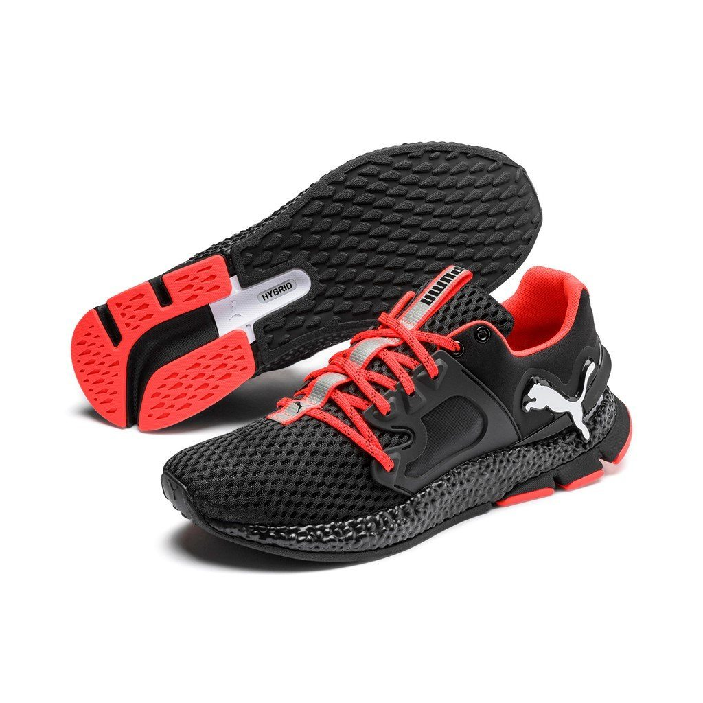 Puma Mens Hybrid Sky - Puma Black/Puma White/Nrgy Red SP-Footwear-Mens Puma